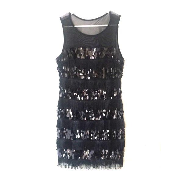 Dresses & Skirts - Black Sequin Dress